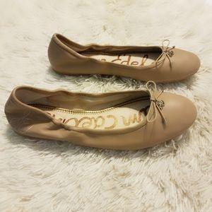 Sam Edelman Shoes - Sam Edleman Felicia Flats Classic Nude Leather 10